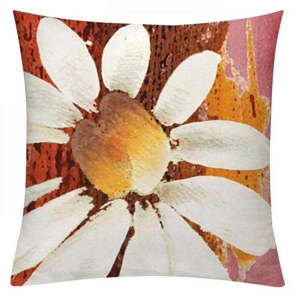 Margerite Orangerot - Kissenhülle 50 x 50 cm