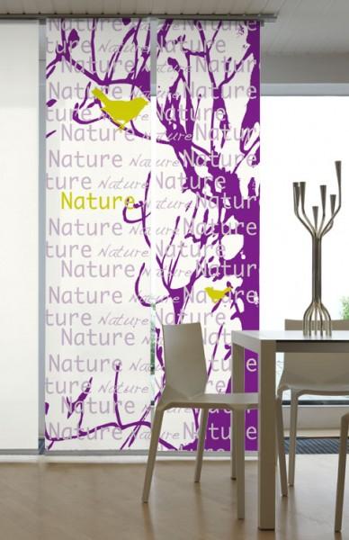 Nature Lila Flächenvorhänge 2-teiliges Set